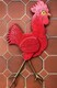 DUCOTE; Big Red Rooster, painted wood and found objects SOLD