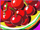 DUCOTE; Bowl of Cherries ; digital painting SOLD additional prints available