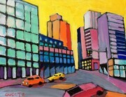 "DUCOTE;City of Colour, 14 x 11 "", acrylic, unframed"