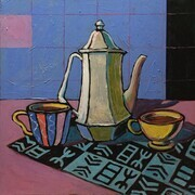 DUCOTE, Coffee for 2; acrylic on canvas