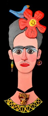 DUCOTE: Frida; wood and found objects SOLD