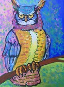 DUCOTE, Great Horned Owl; acrylic on canvas