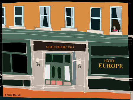 DUCOTE; Hotel Europe; digital painting, SOLD, more prints available