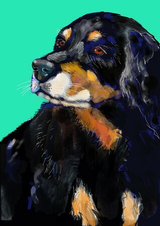 DUCOTE; Max, digital painting SOLD