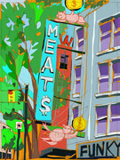 DUCOTE; Save-on Meats ; digital painting SOLD additional prints available