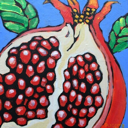 DUCOTE, Pomegranate; acrylic on canvas SOLD