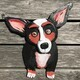 DUCOTE; Porgy the Corgi, painted wood SOLD