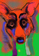 DUCOTE; Red Corgi limited edition digital painting