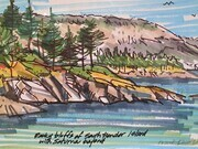 DUCOTE; Rocky Bluffs of S. Pender Island; markers on paper