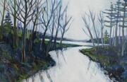 DUCOTE; The River, acrylic on canvas, SOLD