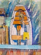 DUCOTE, Wooden Dinghy at Hope Bay, watercolour on paper