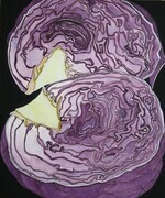 Purple Cabbage, Halved  SOLD