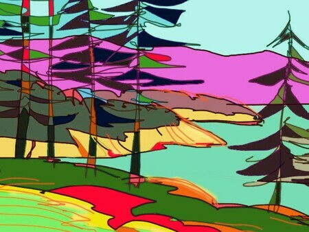 DUCOTE; Saturna View; digital painting SOLD more prints available