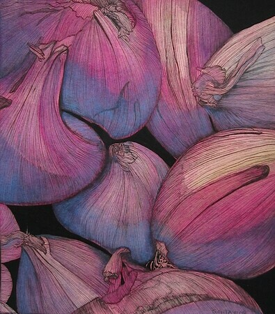 TAYLOR; Shallots (Honourable Mention awarded in Sidney Fine Arts Show October 2014)