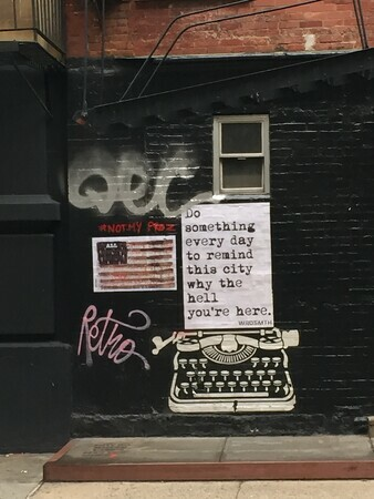 TAYLOR; NYC Graffiti 2: Words to Live By, photograph, limited edition of 10, #1 SOLD
